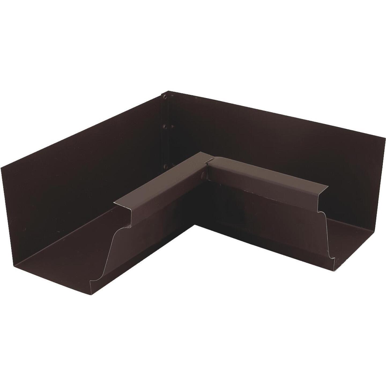NorWesco 4 In. Galvanized Brown Gutter Inside Corner Image 1