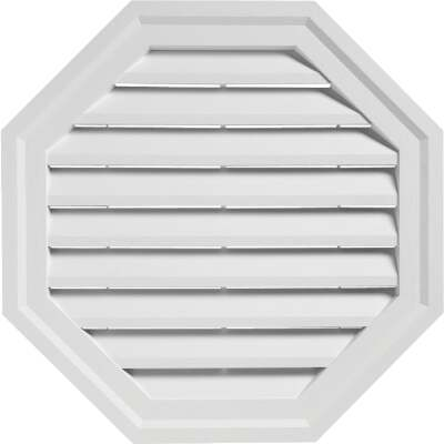 "Ply Gem 22"" Octagon White Gable Attic Vent"