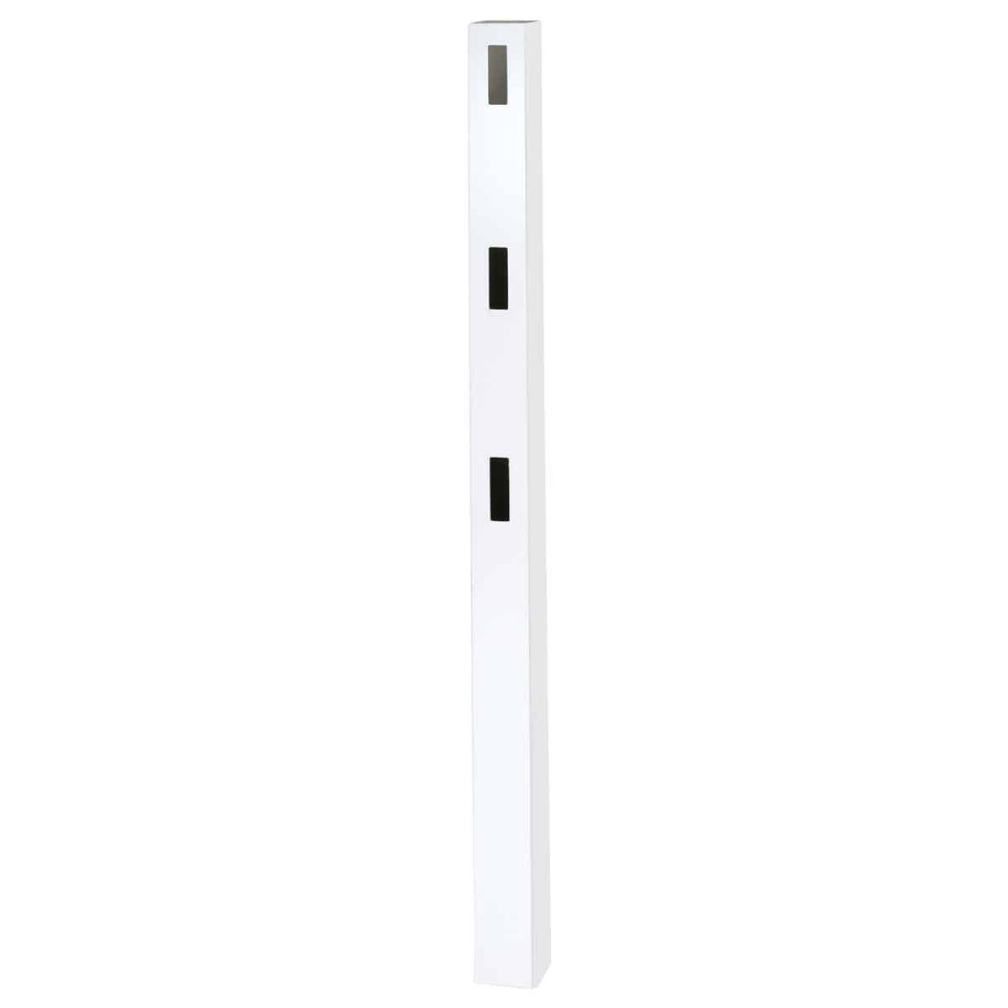 Outdoor Essentials 5 In. x 5 In. x 84 In. White Line 3-Rail Fence Vinyl Post Image 3
