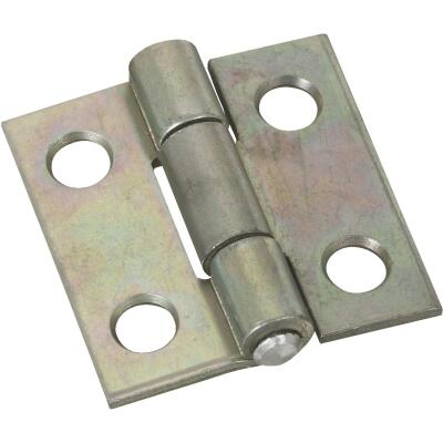 National 1 In. Zinc Tight-Pin Narrow Hinge (2-Pack)