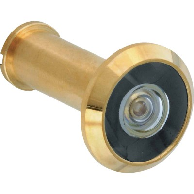 National Solid Brass 200 Degree Angle Door Viewer