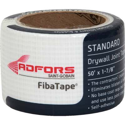 FibaTape 1-7/8 In. x 50 Ft. White Self-Adhesive Joint Drywall Tape