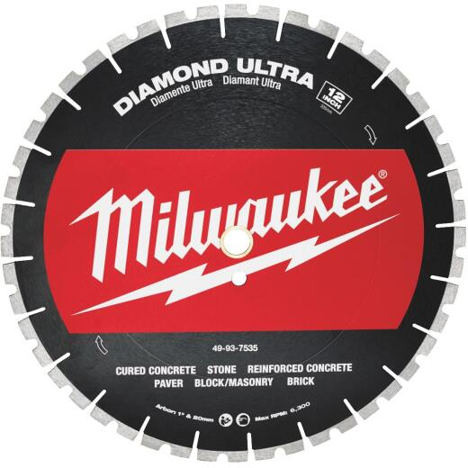 Milwaukee 12 In. Ultra Segmented Rim Dry/Wet Cut Diamond Blade
