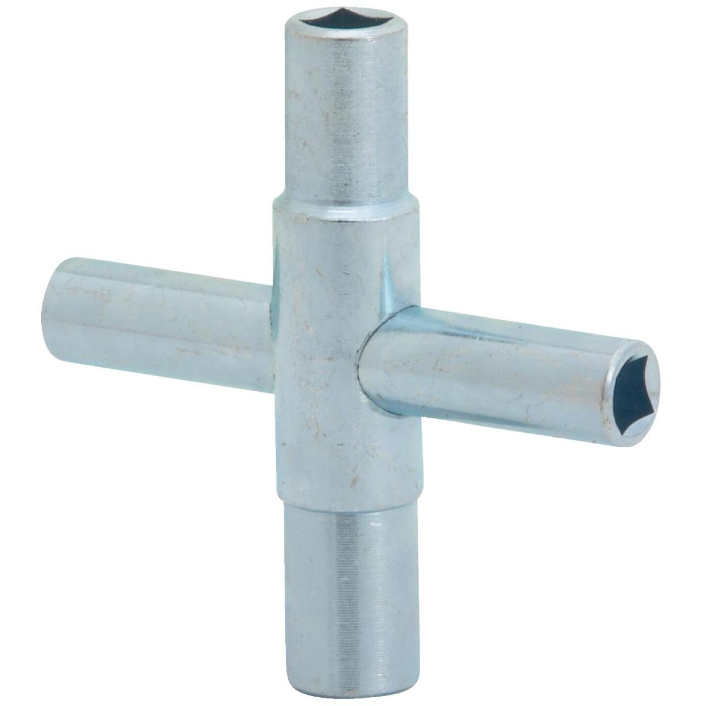 Jones Stephens 4-Way Lawn Faucet Key for 1/4, 9/32, 5/16, 11/32 In. Stems Image 1