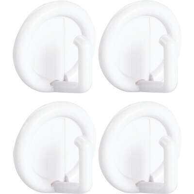 InterDesign Axis Utility Round White Adhesive Hook