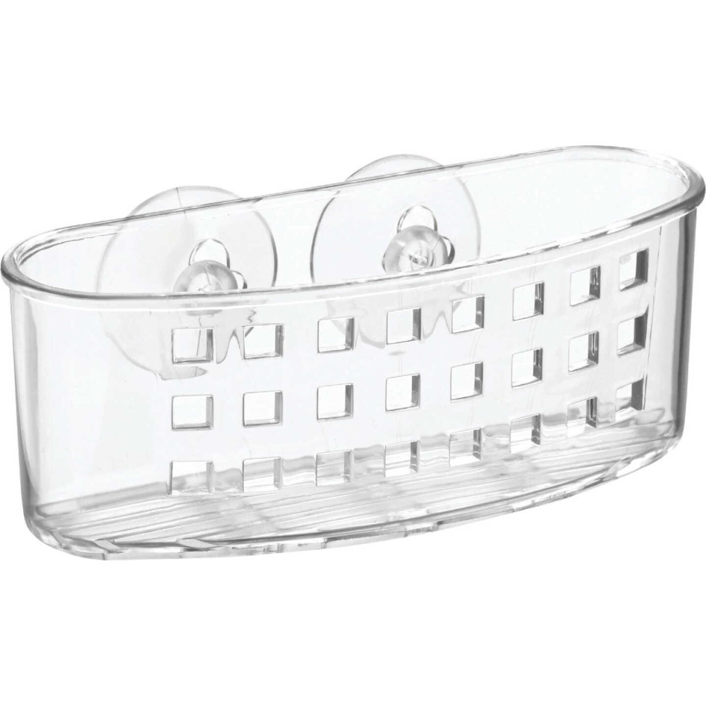 InterDesign Sinkworks Clear Suction Scrubber & Sponge Holder Image 1