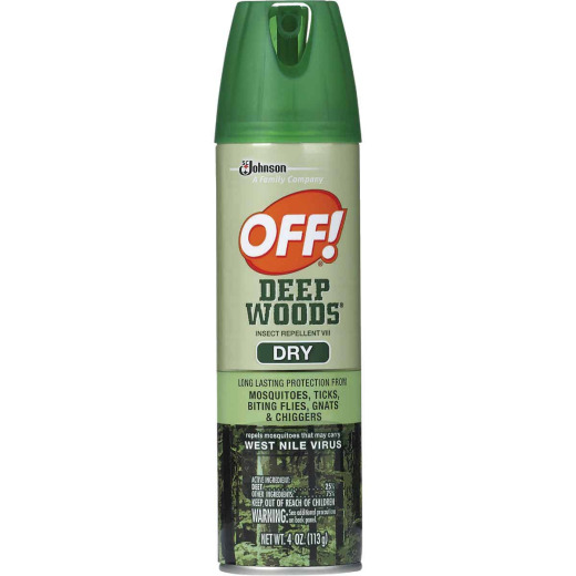 Deep Woods Off 4 Oz. Dry Insect Repellent Aerosol Spray