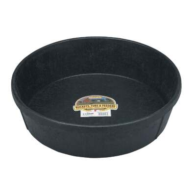 Little Giant Duraflex 3 Gal. Round Rubber Feed Pan