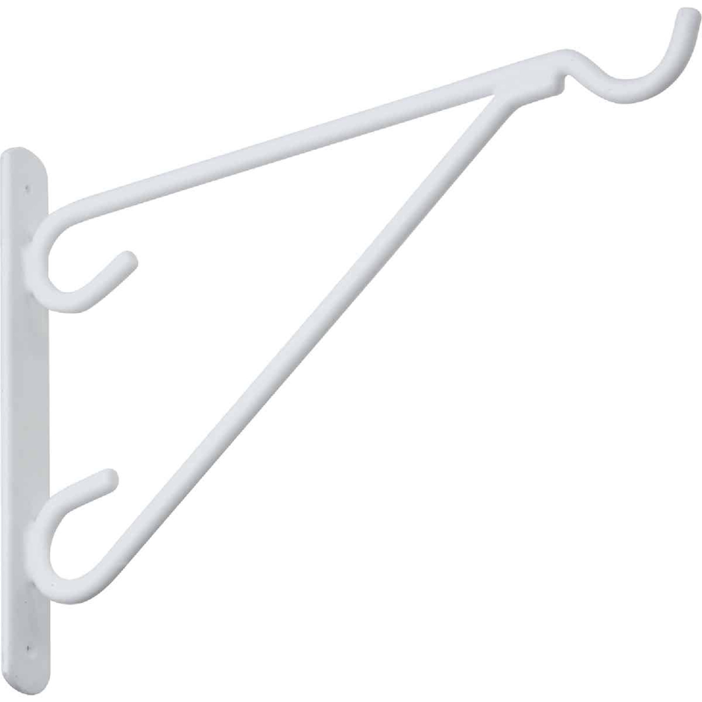 National 12 In. White Vinyl-Coated Steel Plant Hanger Bracket Image 3
