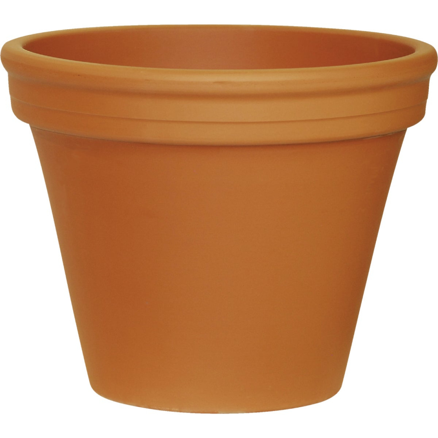 Ceramo 8-3/4 In. H. x 10-1/4 In. Dia. Terracotta Clay Standard Flower Pot Image 1